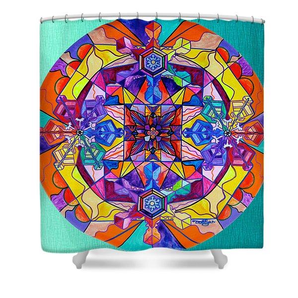 Synchronicity Shower Curtain