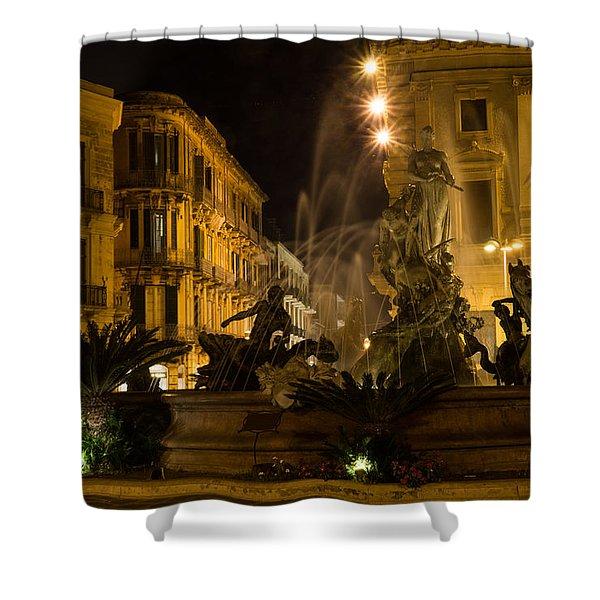 Syracuse - Diana Fountain  Shower Curtain