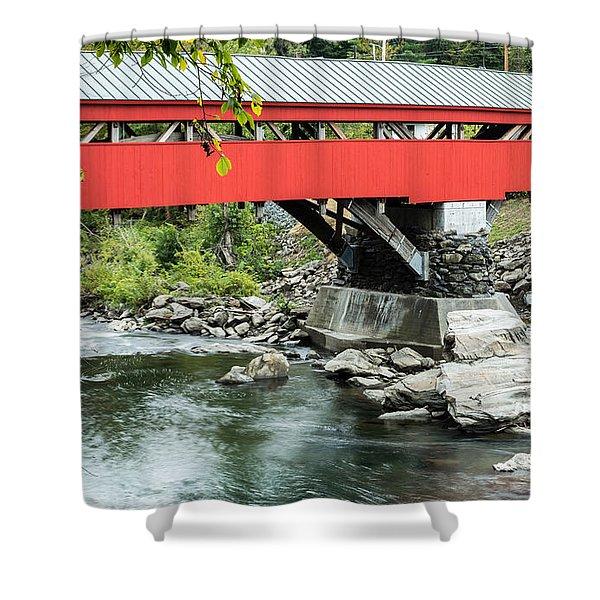 Taftsville Covered Bridge Vermont Shower Curtain