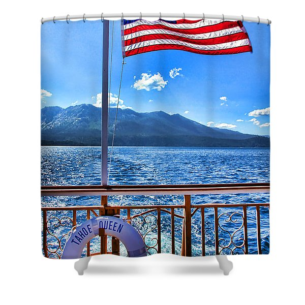 Tahoe Queen Lake Tahoe By Diana Sainz Shower Curtain