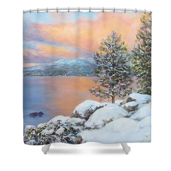 Tahoe Winter Colors Shower Curtain
