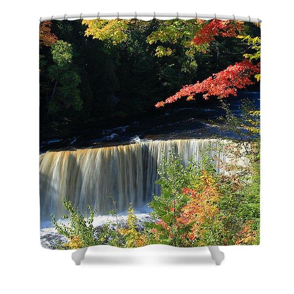 Tahquamenon Falls Autumn Shower Curtain