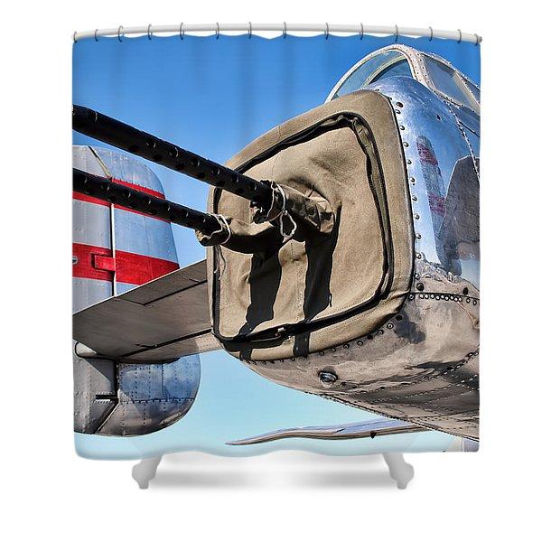 Tail Gunner Shower Curtain