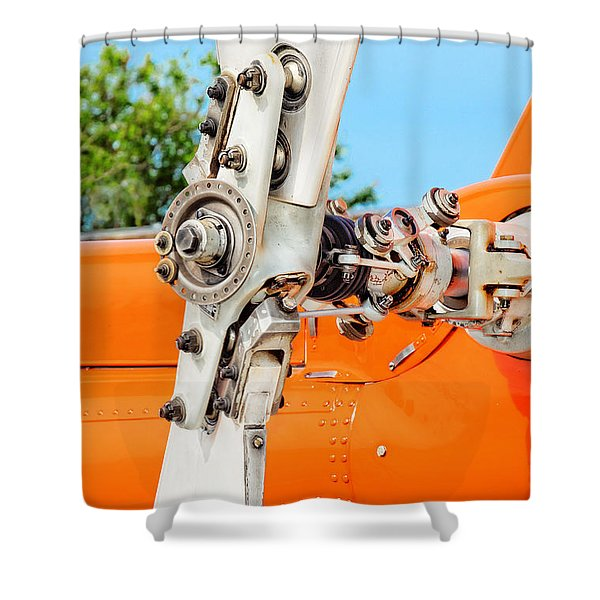 Tail Rotor Shower Curtain