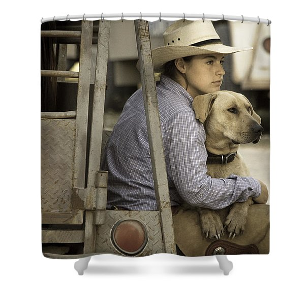 Tailgate Friends Shower Curtain