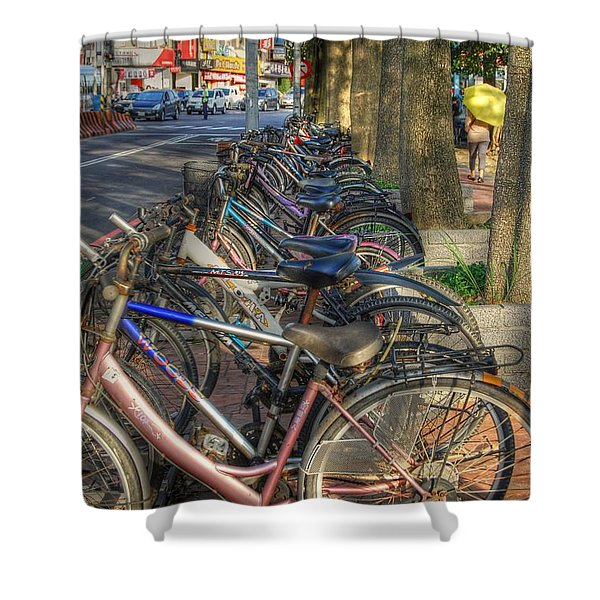 Taiwan Bikes Shower Curtain
