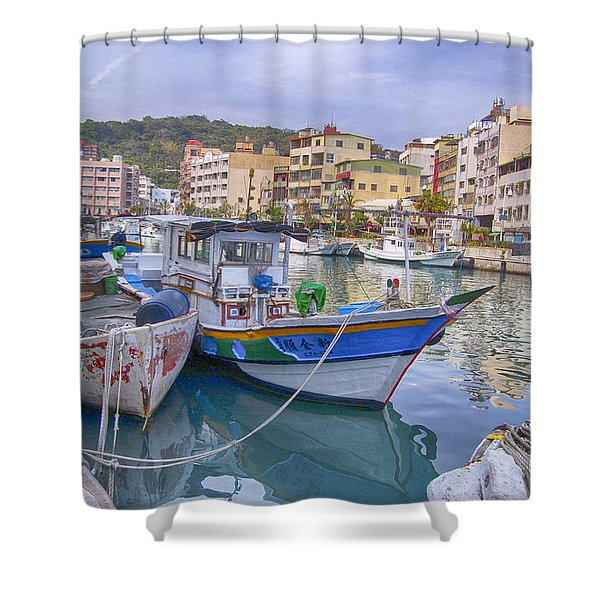 Taiwan Boats Shower Curtain