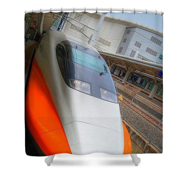 Taiwan Bullet Train Shower Curtain