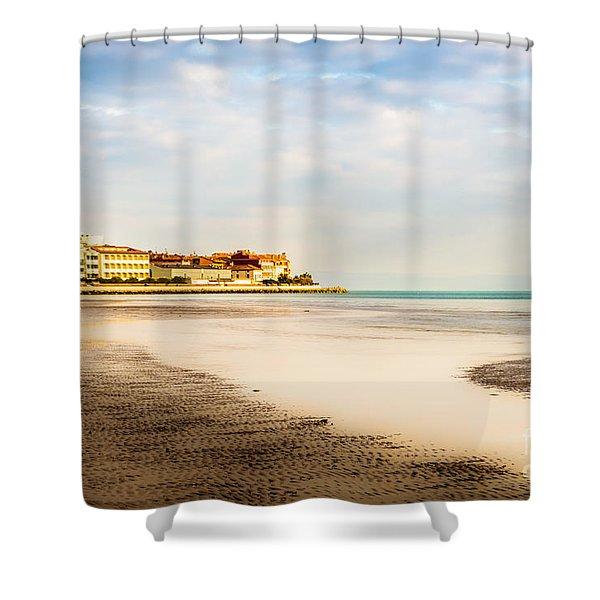 Take A Walk At The Beach Shower Curtain