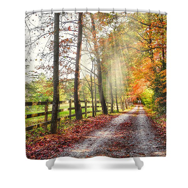 Take The Back Roads Shower Curtain