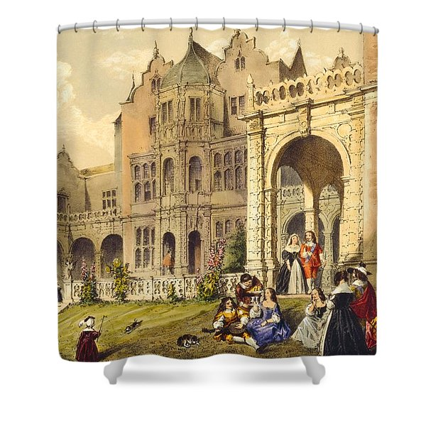 Taking Refreshment On The Terrace Lawn Shower Curtain