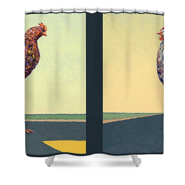 Tale Of Two Chickens Shower Curtain