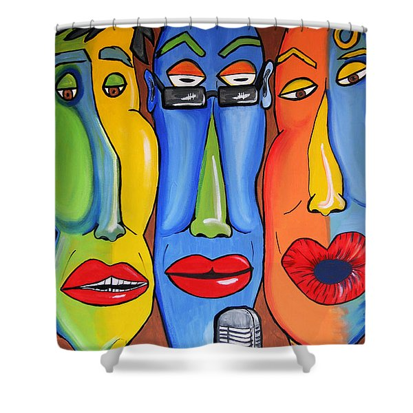 Talking Heads Shower Curtain