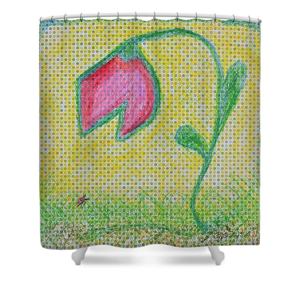 Talking In The Garden Shower Curtain