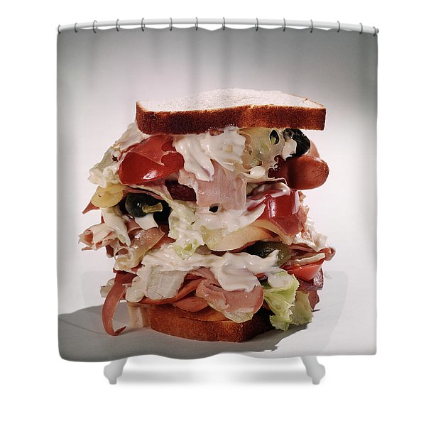 Tall Overstuffed Dagwood Sandwich Still Shower Curtain