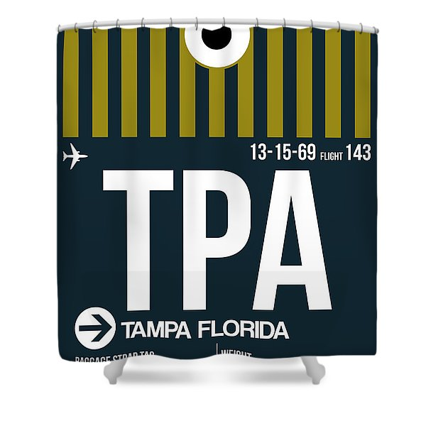 Tampa Airport Poster 1 Shower Curtain