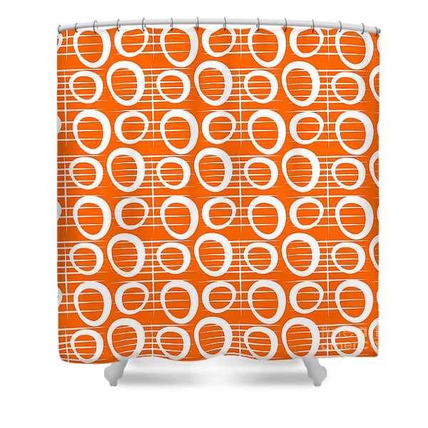 Tangerine Loop Shower Curtain