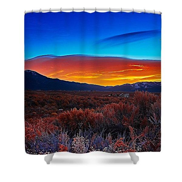 Taos Sunrise X Shower Curtain