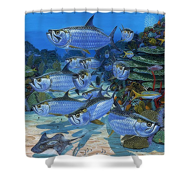 Tarpon Alley In0019 Shower Curtain