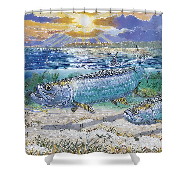 Tarpon Cut In0011 Shower Curtain