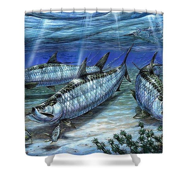Tarpon In Paradise - Sabalo Shower Curtain