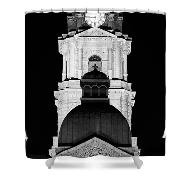 Tarrant County Courthouse Bw V1 020815 Shower Curtain