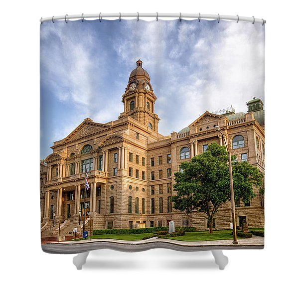 Tarrant County Courthouse II Shower Curtain