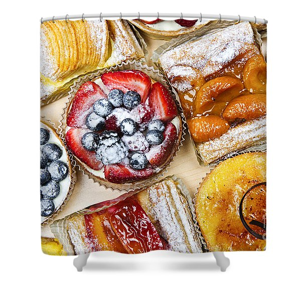 Tarts And Pastries Shower Curtain
