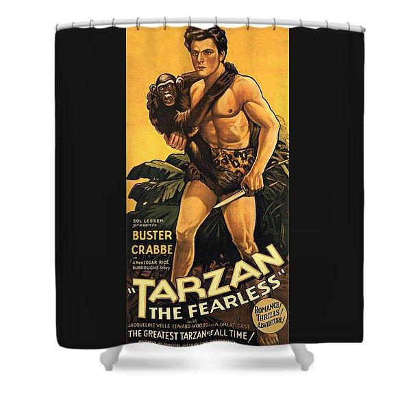 Tarzan The Fearless  Shower Curtain