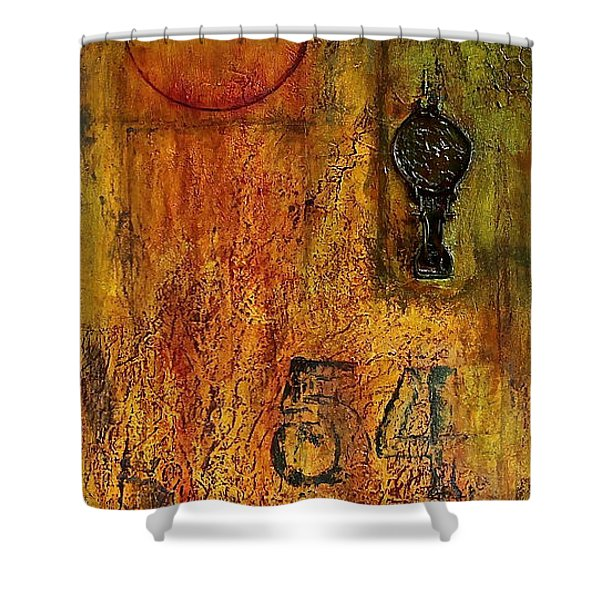 Tattered Wall  Shower Curtain