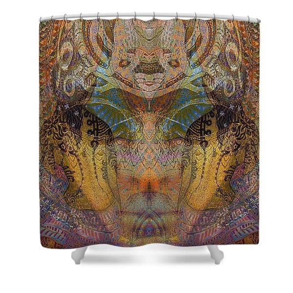 Tattoo Mask Shower Curtain
