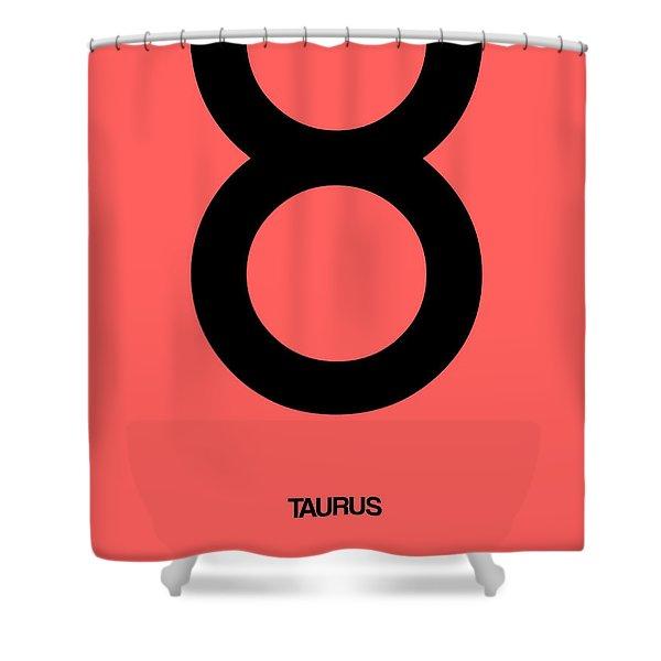 Taurus Zodiac Sign Black  Shower Curtain
