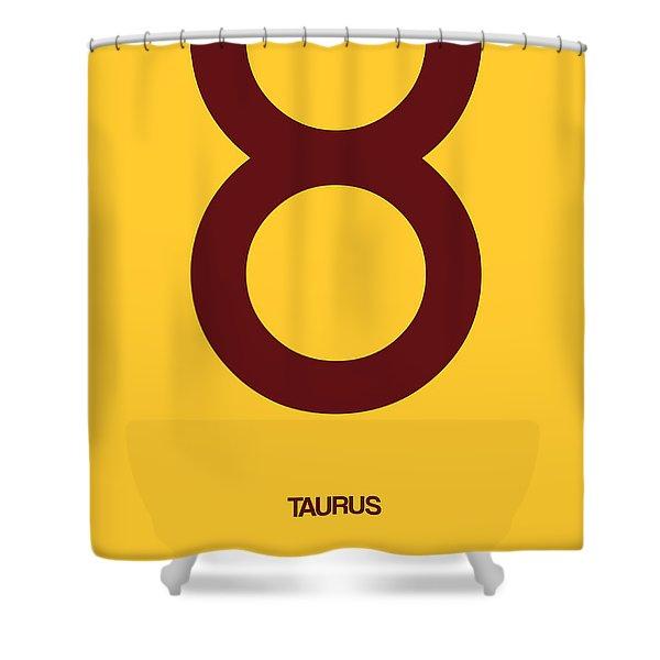Taurus Zodiac Sign Brown Shower Curtain