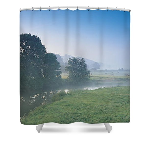 Taw River Near Barnstaple N Devon Shower Curtain