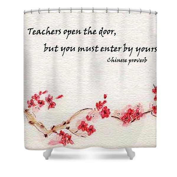 Teachers Open The Door Shower Curtain