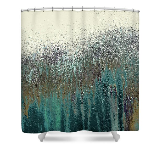 Teal Woods Shower Curtain