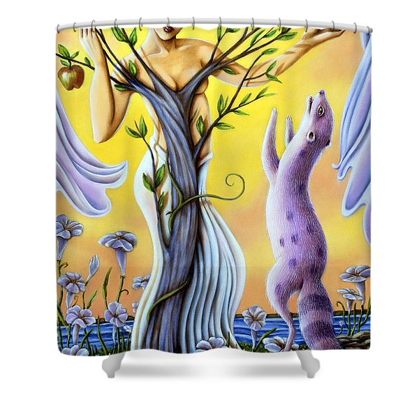 Teasing The Weasel Shower Curtain