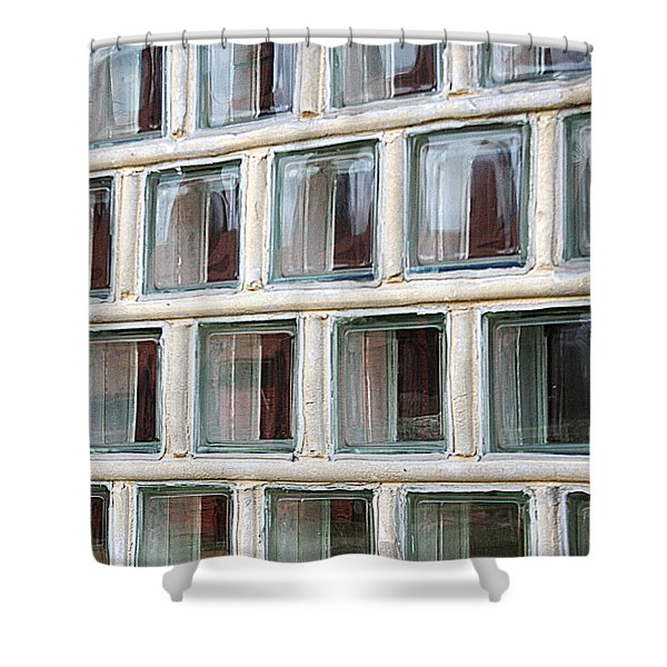 Shower Curtain featuring the photograph Technocratic Windows by William Selander