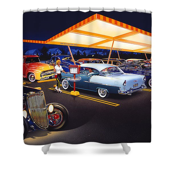 Teds Drive-in Shower Curtain