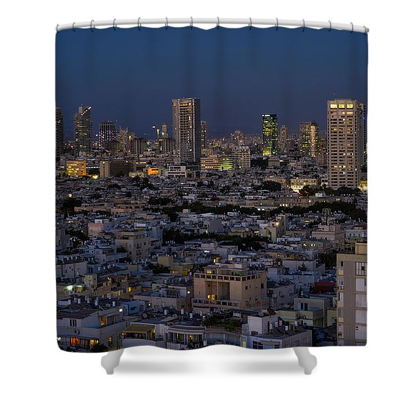 Tel Aviv At The Twilight Magic Hour Shower Curtain