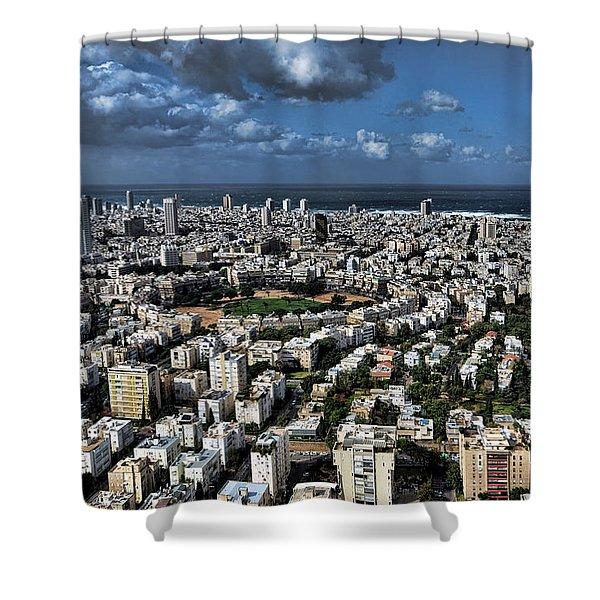 Tel Aviv Center Shower Curtain