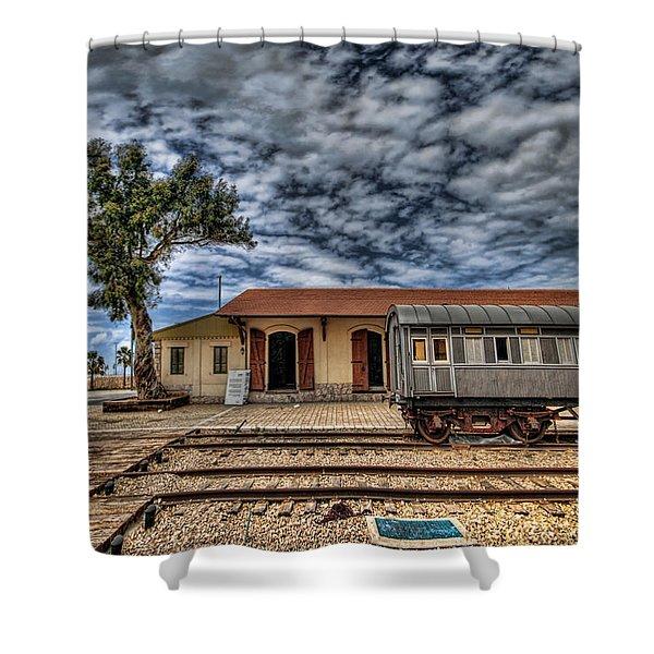 Tel Aviv Old Railway Station Shower Curtain