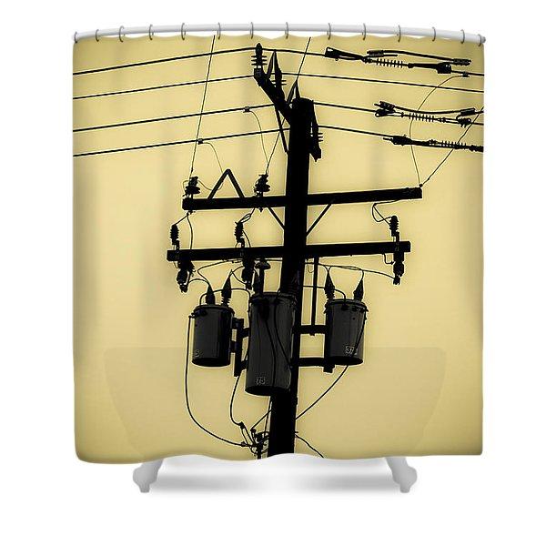 Telephone Pole 3 Shower Curtain
