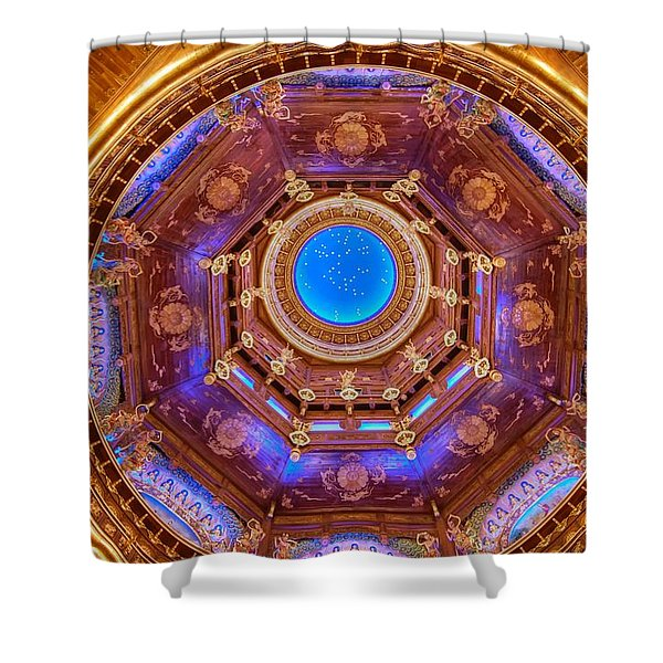Temple Ceiling Shower Curtain