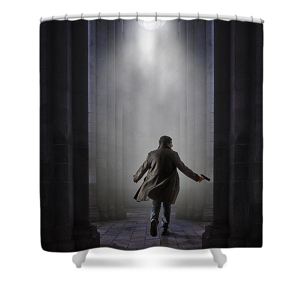 Temple Chase Shower Curtain