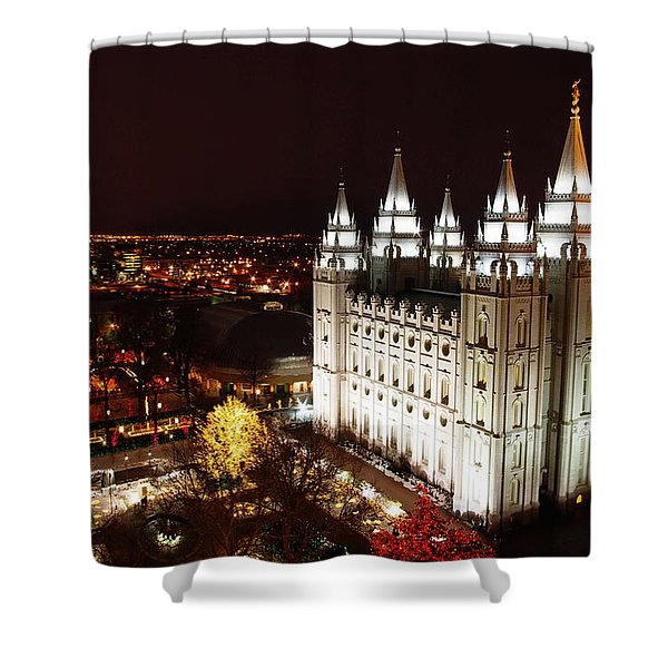 Temple Square Shower Curtain