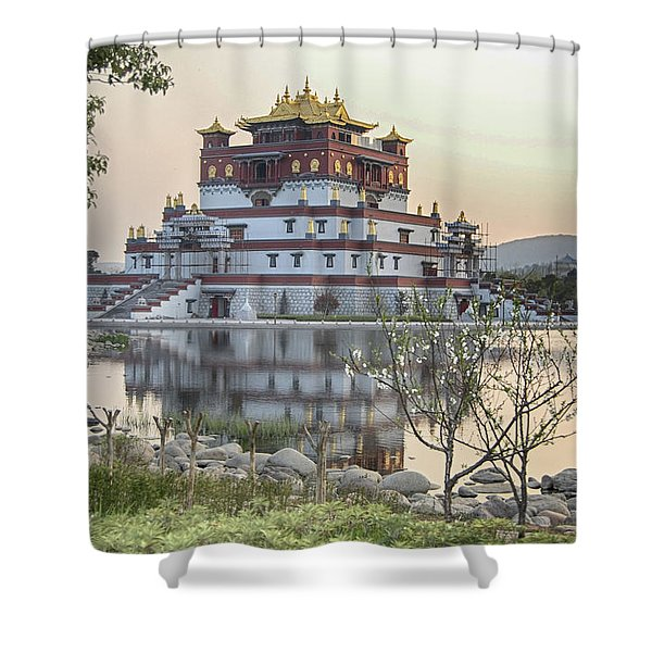 Temple Wuxi China Color Shower Curtain