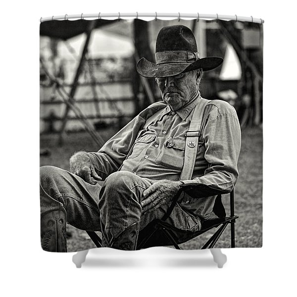 Cowboy And The Ten Gallon Hat Shower Curtain