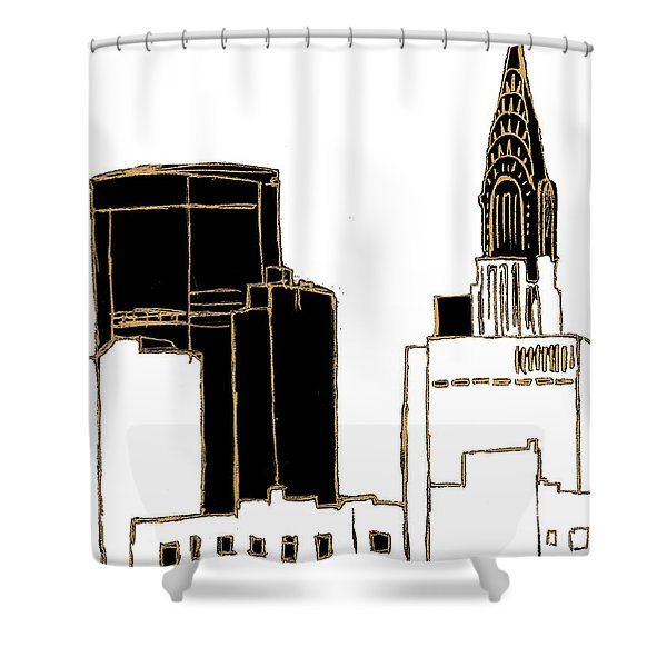 Tenement Empire State Building Shower Curtain