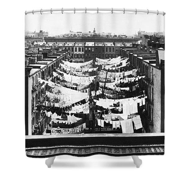 Tenement Housing Laundry Shower Curtain